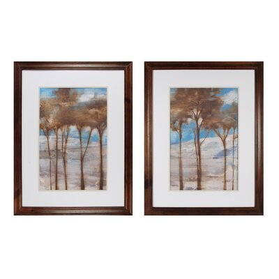 Near Dusk 2 Piece Framed Painting Print Set