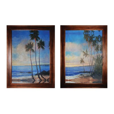Embellished Tropical Breeze 2 Piece Framed Painting Print Set 10215-S2