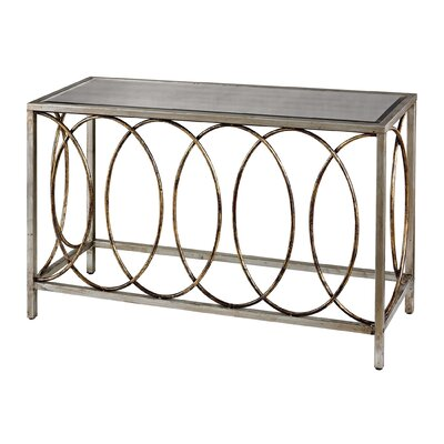 Rings Console Table with Mirrored Top