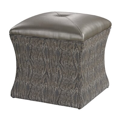 Luxe Ottoman Upholstery: Grey