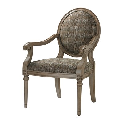 Luxe Accent Armchair Color: Green
