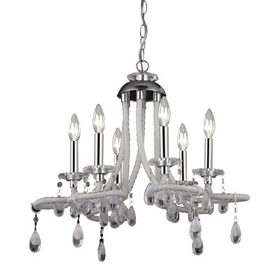 Krull 6-Light Candle-Style Chandelier