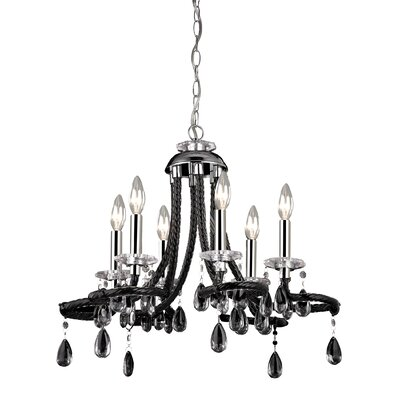 Kwon 6-Light Crystal Chandelier