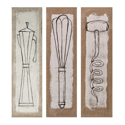 Exclusive Simone Ralva Salvaro Stretched 3 Piece Graphic Art on Canvas Set