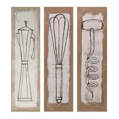 Exclusive Simone Ralva Salvaro Stretched 3 Piece Graphic Art on Canvas Set