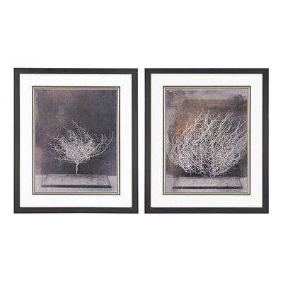 Desert Form Print Under Glass 2 Piece Framed Painting Print Set