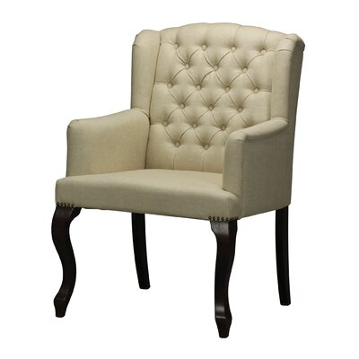Linen Tuffted Armchair