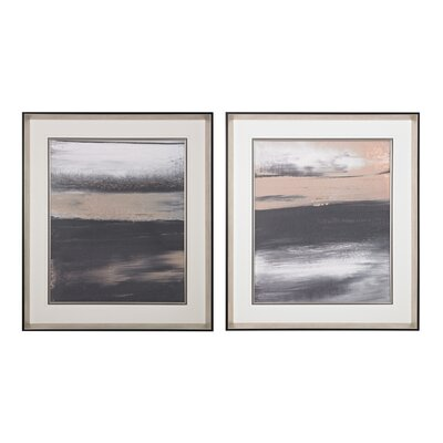 Glide 2 Piece Framed Graphic Art Set