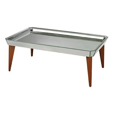 Rushbrook Mid Century Mirrored Coffee Table