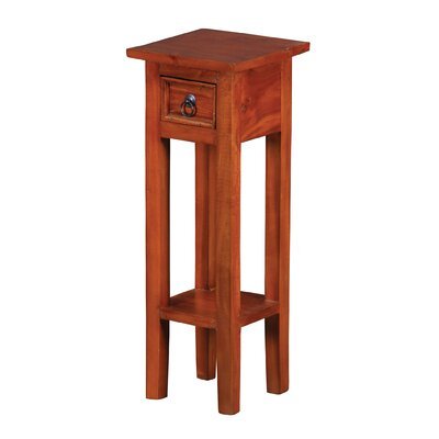Britney End Table Color: Reddish Oak Espresso