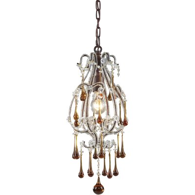 Maney 1-Light Mini Pendant Finish: Antique White