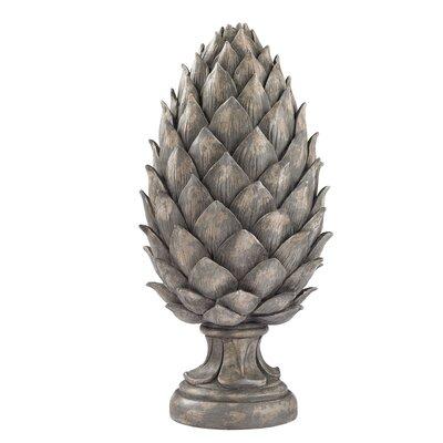 Aged Gray Pine Cone Statue