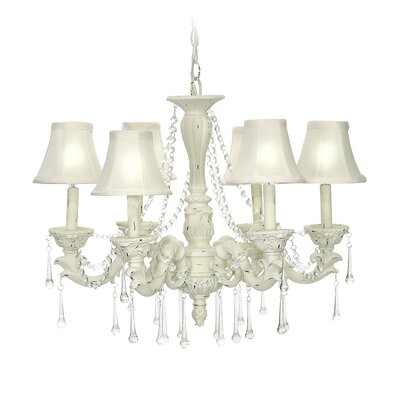 Blanche Boudoir 6-Light Candle-Style Chandelier