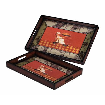 Busy Chef Tray (set Of 2)