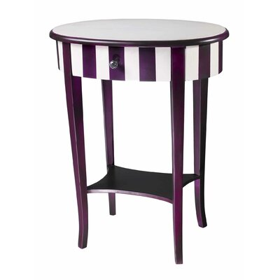 Cheap Sterling Industries Striped Side Table in Purple and White (SIF2009)