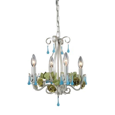 Floral 4 Light Mini Chandelier 123-007