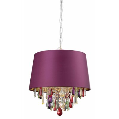 Bousquet 1-Light Drum Pendant