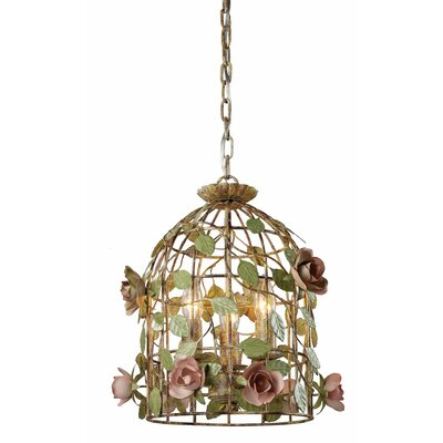 3-Light Cage Bird Foyer Pendant