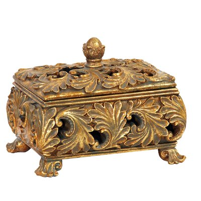 Harvey Textured Leaf Decorative Keeping Box