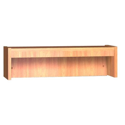 Glacier 10 Shelving Unit Size: 10 H x 36 W x 10 D, Finish: Oiled Cherry