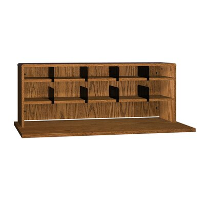 General Desktop Organizer with 2 Shelves Finish: Dixie Oak, Size: 18 H x 56 W x 12 D