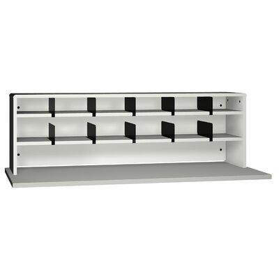 General Desktop Organizer with 2 Shelves Size: 18 H x 29 W x 12 D, Finish: Folkstone Grey