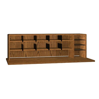 General High Capacity Desktop Organizer Finish: Dixie Oak
