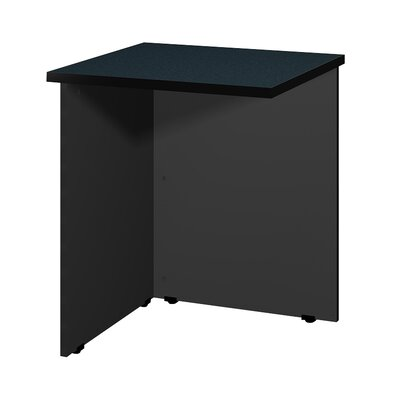 Modular 28.38 H x 23.75 W Desk Bridge Finish: Black Granite / Black