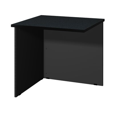 Modular 28.38 H x 30 W Desk Bridge Finish: Black Granite / Black