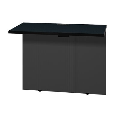 Modular 28.38 H x 37 W Desk Bridge Finish: Oiled Cherry / Black