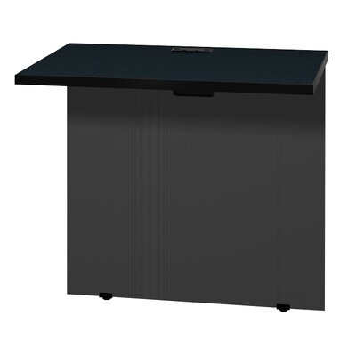 Modular 28.38 H x 31 W Desk Bridge Finish: Black Granite / Black
