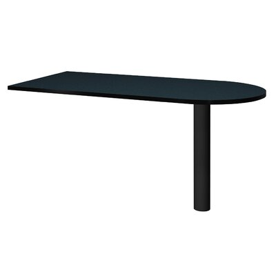 Modular 28.38 H x 60 W Desk Peninsula Finish: Black Granite / Black