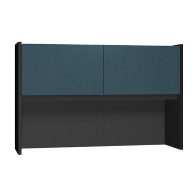 Modular 36 H x 55.75 W Desk Hutch Finish: Black Granite / Black