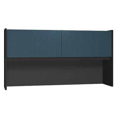 Modular 36 H x 67.75 W Desk Hutch Finish: Black Granite / Black