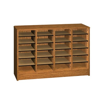 General Literature Organizer Finish: Dixie Oak, Size: 37.88 H x 40 W x 12.13 D