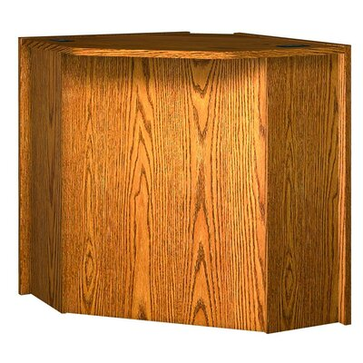 Glacier 39.625 H x 51.375 W Desk Connector Finish: Dixie Oak