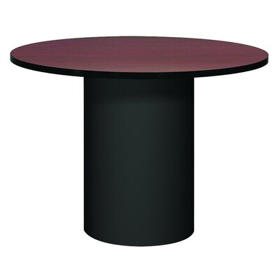 Corsica Circular Conference Table Base Finish: Black, Top Finish: Mahogany, Size: 3 6 L
