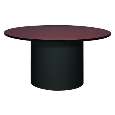 Corsica Circular Conference Table Base Finish: Black, Top Finish: Mahogany, Size: 5 L