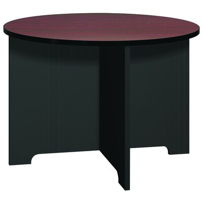 Kayak Circular Conference Table Base Finish: Black, Top Finish: Mahogany, Size: 3 6 L
