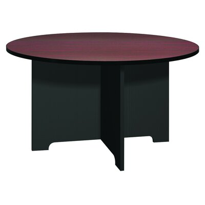 Kayak Circular Conference Table Base Finish: Black, Top Finish: Mahogany, Size: 4 L
