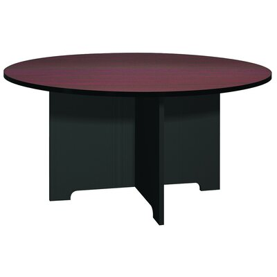Kayak Circular Conference Table Base Finish: Black, Top Finish: Mahogany, Size: 5 L