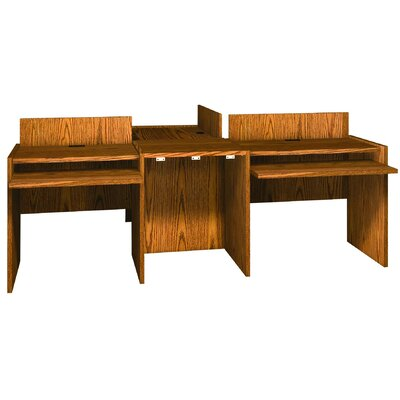 Glacier 1 H x 23.88 W Desk Connector Finish: Dixie Oak