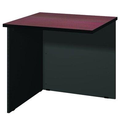 Modular 28.38 H x 30 W Desk Bridge Finish: Mahogany / Black