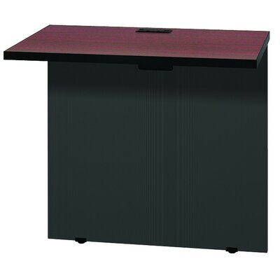 Modular 28.38 H x 31 W Desk Bridge Finish: Mahogany / Black