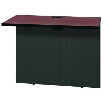 Modular 28.38 H x 37 W Desk Bridge Finish: Mahogany / Black