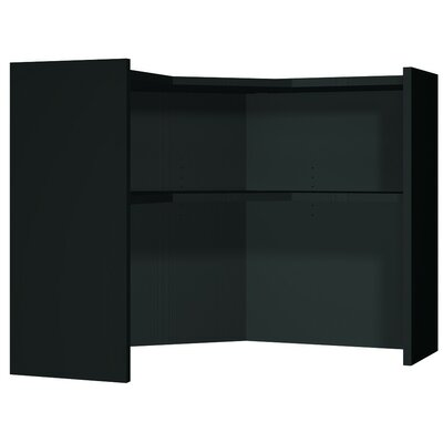Modular 36 H 66.75 W Desk Hutch Hutch Finish: Black