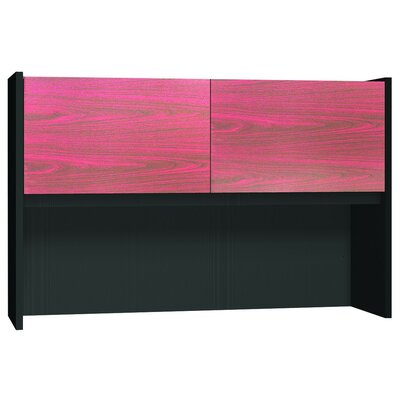 Modular 36 H x 55.75 W Desk Hutch Finish: Mahogany / Black