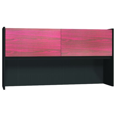 Modular 36 H x 67.75 W Desk Hutch Finish: Mahogany / Black