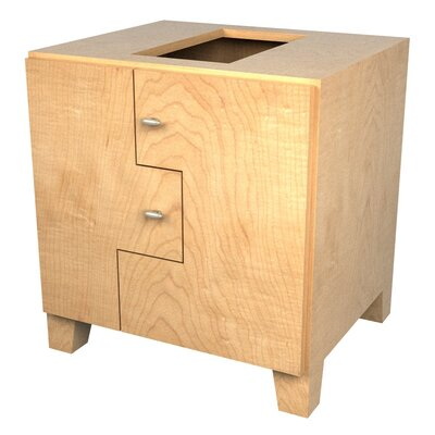 MDV Modular Cabinetry Footed Base Cabinet Finish: Maple, Orientation: Right Hand