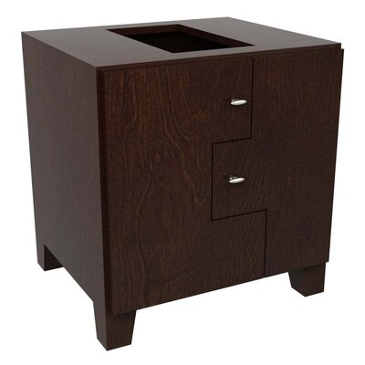 MDV Modular Cabinetry Footed Base Cabinet Finish: Espresso, Orientation: Left Hand